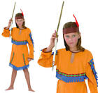 Childrens Indian Girl Fancy Dress Costume Native Pocahontas Outfit Kids 3-13 Yrs