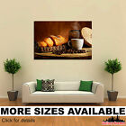 Wall Art Canvas Picture Print - Drinks Coffee Croissant Grain Cup Food 3.2