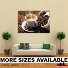 Wall Art Canvas Picture Print - Drinks Coffee Grain Cup Saucer Food 3.2