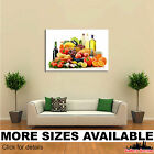 Wall Art Canvas Picture Print - Fruit Vegetables Bottle Food 3.2