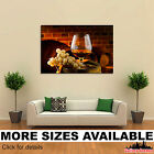 Wall Art Canvas Picture Print - Grapes Wine Barrel Drinks Stemware Food 3.2