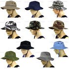 Plain Bucket hat Military specs Boonie cap Wide brim Thick material 100% Cotton