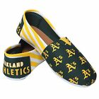 OAKLAND A'S STRIPED  WOMENS  CANVAS SHOES   CHOOSE SIZE