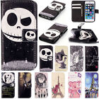 Flip Pattern Leather Wallet Card Kickstand Case Cover For iPhone 5S 5C 6 6S Plus