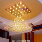 Modern Pyramid LED K9 Crystal Ceiling Light Villa Living Room Lobby ndant Lamp