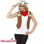 Womens Ladies Instant Wild West Cowgirl Costume Kit Fancy Dress Western Hat