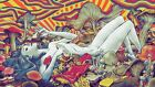 "Psychedelic Trippy Art Silk Cloth Poster 43 x 24"" Decor 90"