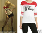 """HARLEY QUINN """"DADDY'S LIL MONSTER"""" COSPLAY TEE DC COMICS SUICIDE SQUAD FREE SHIP"""