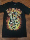 Sons Of Anachy Reaper In Flames Samcro Adult T Shirt FX TV Show Biker Gang