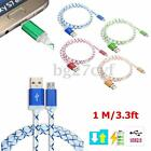 1M LED Light Micro USB Data Sync Charger Charging Cable for Android Phone Tablet
