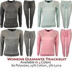 Ladies Womens Cuffed Diamante Wings Lounge Wear Tracksuit Jumper Small - Plus