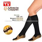 New Unisex Miracle Copper Socks Anti Fatigue Compression Socks Stocking Black S1
