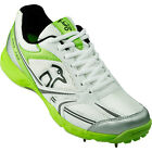 Kookaburra Pro 750 Spike Mens Adult Cricket Shoe White/ Green