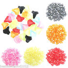 10 grams/approx 45 FROSTED LUCITE TRUMPET LILY FLOWER BEADS 12mm