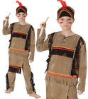 Childrens Kids Native American Fancy Dress Costume Native Wild West Outfit M