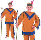 Childrens Kids Indian Boy Fancy Dress Costume Native Wild West Outfit L