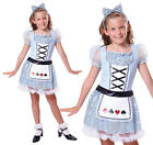 Childrens Alice In Wonderland Fancy Dress Costume Book Week Day Outfit L