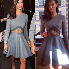 Sexy Women's Long Sleeve Casual Summer Cocktail Party Short Mini Evening Dress