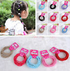 10pcs/50pcs/100pcs Kids Baby Girl Hair Rope Band Tie Ponytail Holder Accessories