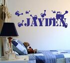 Personalised digger children's wall sticker - 3 sizes, 15 colours