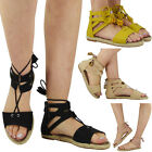 NEW WOMENS LADIES LOW FLAT HEEL TASSLE BUCKLE ESPADRILLES ANKLE SHOES SANDALS SZ