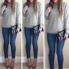 Women Casual Long Sleeve gift Backless Tops Blouse T-Shirt charming great TXWD