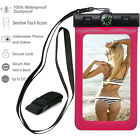 Waterproof Underwater Swimming Pouch Bag Dry Case Cover + Compass For Cell Phone