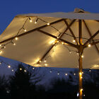 SOLAR POWERED OUTDOOR GARDEN DECKING WEDDING  PARTY TIMER FAIRY STRING LIGHTS