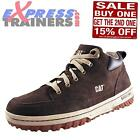 Caterpillar CAT Havering Mens Suede Leather Mid Ankle Boots Expresso Brown