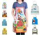 LOT OF BIB PATTERN APRONS CRAFT /  NOVELTY CANVAS WITH POCKET KITCHEN COOKING