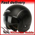 Nitro X581 Decal Matt Black Gunmetal Classic Open Face Sunvisor Helmet