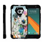 For HTC 10 | One M10 | Dual Bumper Case  Kickstand- Colorful Puppy