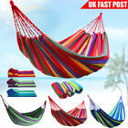 SINGLE DOUBLE Outdoor Garden Cotton Rope Hammock Swing Hang Bed Travel Camping
