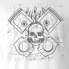 New Piston's & Skulls T-shirt All Sizes engine pistons rebuild mens car tshirts