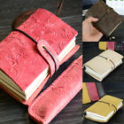 Handmade Genuine Leather Notebook Diary Carved Travel Office Journal Stationary