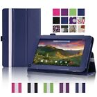 "Slim Leather Case Cover For 7"" RCA 7 Voyager II RCT6773W22B Tablet DZBHW"
