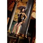 Baci Lingerie Purple Fence Net Thigh High Stockings No 408  NEW & BOXED