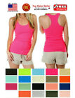 black ribbed tank - Women Lady Soft Seamless Ribbed Racer Back Stretch Tank Top Yoga Hot Tee Layer