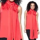 Queen Collection Sleeveless Scarf Blouse 200656MJ- Lollipop, L - ONLY $20*