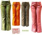 NEW Women's casual soft Wide Leg Premium Basic long Linen Pants with Scarf Belt