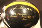 pittsurgh steelers lamarr woodley,lawerence timmons signed mini helment