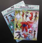 Lot Big Hero 6 Stickers Children Stick Transparent PVC stickers Party Gifts T88