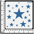 Stencils Templates Masks for Scrapooking, Cardmaking - Stars Collection 1