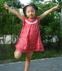 Heyifang Cotton red floral Baby Girls The Children's Place-Size 1Y-7Y skirt
