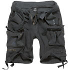 Brandit Savage Vintage Combat Summer Cargo Shorts Hiking Camping Cotton Black