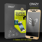 3D Full Coverage 9H CRAZY Tempered Glass Screen Protector for Galaxy S7 S7 Edge