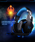Stereo Bass Gaming Headphones Headset with Microphone for PC Laptop Skype Gamer