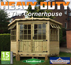 Garden Corner Summer House Sunroom Outdoor Home Office Tanalised Timber Cladding