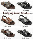 Lucini Mens Casual Genuine Leather Mule Sandals Summer Beach Wear