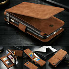 Leather Detachable Magnetic Wallet Card Flip Case Cover For iPhone 5 6 6s 7 Plus